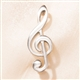 English Pewter Treble Clef Brooch