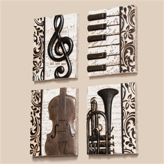 Quartet of Music Plaques