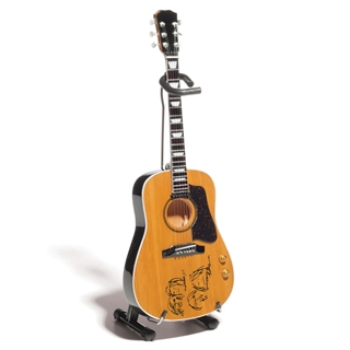 john lennon acoustic guitar miniature at the music stand. Black Bedroom Furniture Sets. Home Design Ideas