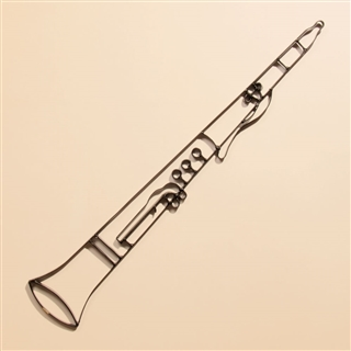 Clarinet Metal Wall Art