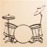 Drumset Metal Wall Art
