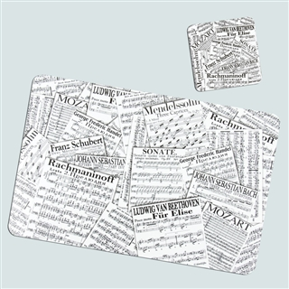 Music Collage Placemats & Coasters