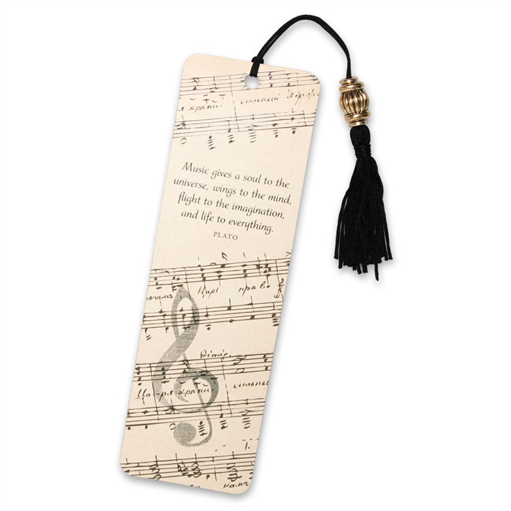 Plato Music Quote Bookmark At The Music Stand