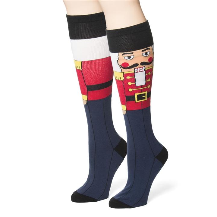 Christmas Nutcracker Knee-High Socks at The Music Stand
