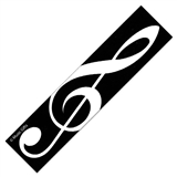 Treble Clef Laminated Bookmark