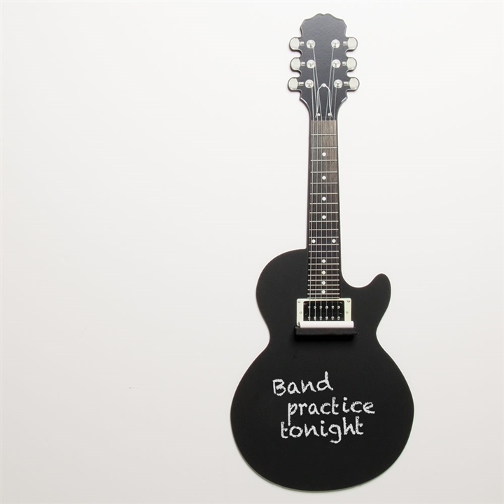 guitar wall decor.htm electric guitar chalkboard at the music stand  electric guitar chalkboard at the music