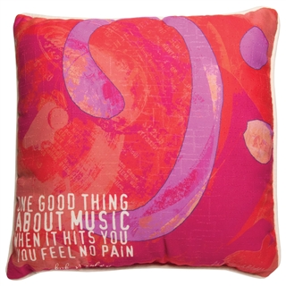 'Feel No Pain' Music Quote Pillow