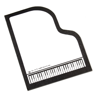 Grand Piano Sticky Notes Pad