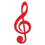 Sleek Red Treble Clef Wall Plaque
