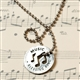 Music Blessing Ring Necklace