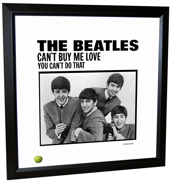 Beatles \'Can\'t Buy Me Love\' Single Framed Lithograph at The Music Stand