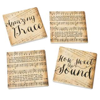 Amazing Grace Absorbent Tile Coasters