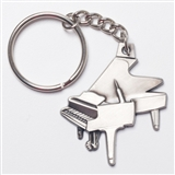 Grand Piano Pewter Keychain