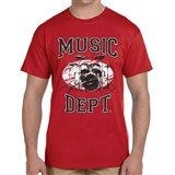Music Dept. Drumset T-Shirt