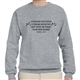 'Consort Not With a Female Musician' Sweatshirt