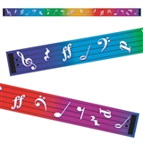 Bright & Colorful Music 2in x 39ft Border