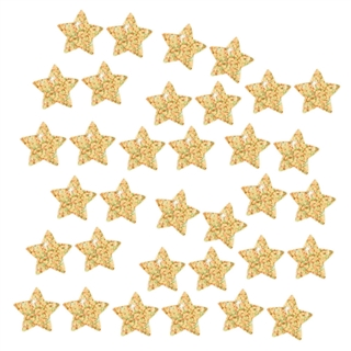 Gold Stars Sparkle Stickers