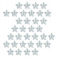 Silver Stars Sparkle Stickers