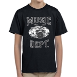 Music Dept. Drumset Child's T-Shirt