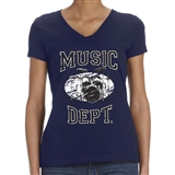 Music Dept. Drumset Ladies T-Shirt