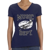 Music Dept. Trumpet Ladies T-Shirt