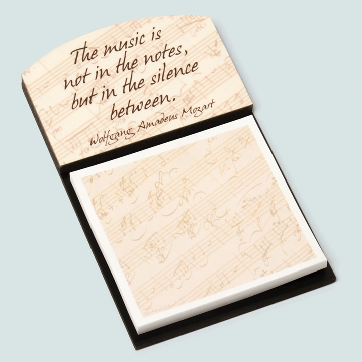 Quotes On Sticky Notes: Mozart Quote Note Holder & Sticky Notes At The Music Stand