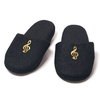 Embroidered G-Clef Slippers