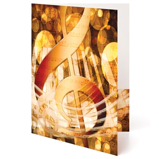 Golden G-Clef Music Folder