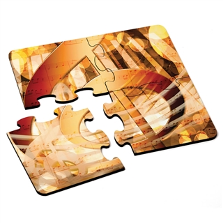 Golden G-Clef Puzzle Coasters