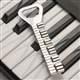 Piano Keys Pewter Bottle Opener