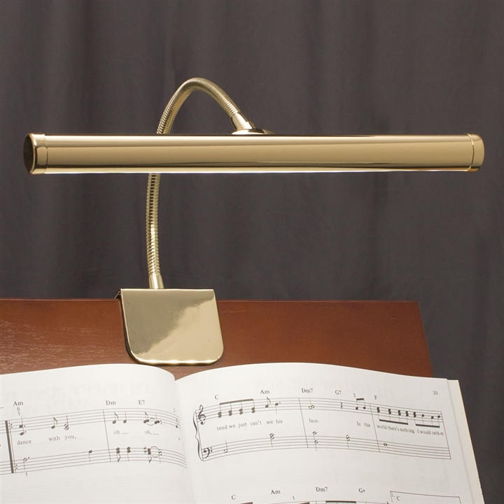 Brass Clamp On LED Piano Lamp