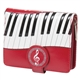 Piano Symphony Red Wallet