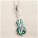 Abalone Violin Necklace