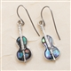 Abalone Violin Earrings