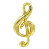 Polished Gold Music Note Lapel Pin