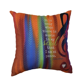 Music in My Soul Indoor Pillow