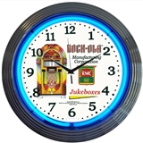 Rock-Ola Neon Wall Clock