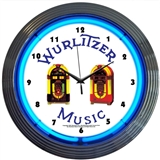 Wurlitzer Jukebox Neon Wall Clock