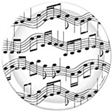"Music Notes 7"" Paper Plate"