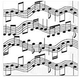 Music Notes Beverage Napkins