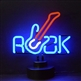 Rock Guitar Neon Sculpture