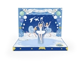 Swan Lake Ballerina Music Box Card