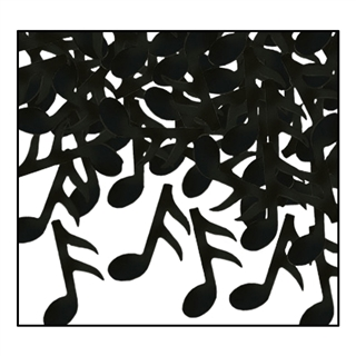Fanci-Fetti Black Musical Notes Confetti