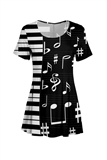 Piano Keys and Notes Tunic