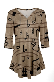 Concerto Beige and Black Tunic