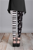 Piano Keys and Notes Leggings