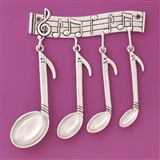 Musicality Measuring Spoons Set with Decorative Rack