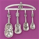 Strike a Chord Measuring Spoons Set with Decorative Rack