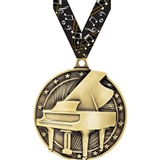 Gold Grand Piano Medal