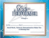 Star Performer Award Certificates